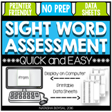 Sight Word Assessment (NO Prep Computer Based Option)