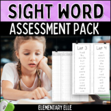 Sight Word Assessment Pack {Dolch and Fry Words}