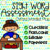 Sight Word Assessment Pack: Oxford Wordlist Plus