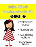 Sight Word Assessment Pack Set 2  (Fry's 2nd 100 Words)