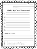 Sight Word Assessment Page