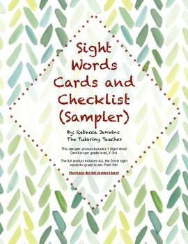 Sight Word Assessment Sampler FREEBIE