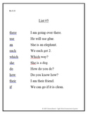 Sight Word Assessment System for Fry's 300