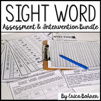 Sight Word Assessment and Intervention Bundle