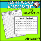 Sight Word Assessment for Kindergarten