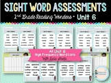 Sight Word Assessments: 2nd Grade Reading Wonders UNIT 6