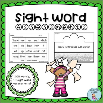 Sight Word Assessments