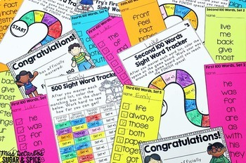 Sight Word Assessments and Word Lists