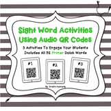 Sight Words Audio QR Code Activities: Primer