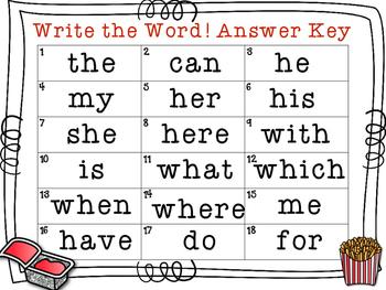 Audio Sight Word QR Codes: Listen, Read, Match & Write