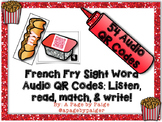 Audio Sight Word QR Codes: Listen, Read, Match & Write