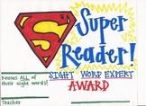 Sight Word Award
