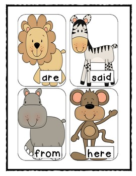 Sight Word BANG! Jungle Animals Edition