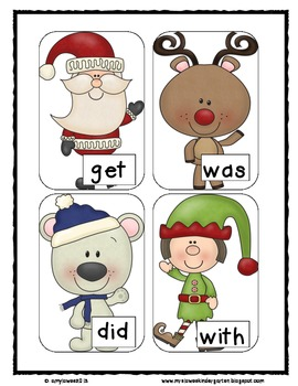 Sight Word BANG!  North Pole Edition