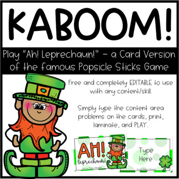 Sight Word BANG St Patrick S Day Edition Ahh Leprechaun TpT