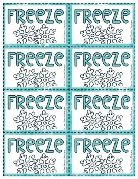 Sight Word BANG!: WINTER Edition {FREEZE}