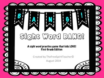 Sight Word BANG! for First Grade