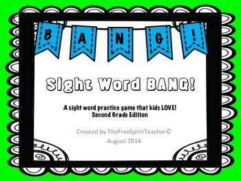 Sight Word BANG! for Second Grade