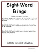 Sight Word BINGO- 6 versions, 36 cards