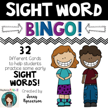 Sight Word BINGO! 32 Different Cards (Plus One Blank Card)!!!