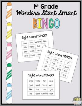 Sight Word BINGO: Cut & Paste (Wonders Units 1-6)