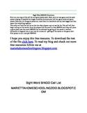 Sight Word BINGO - Directions & Call List