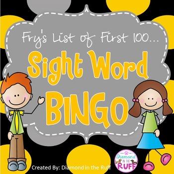 Sight Word BINGO (Fry's first 100 words)