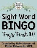 Sight Word BINGO Game: Fry's First 100 Sight Words