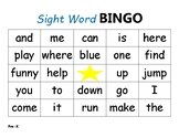 Sight Word BINGO Pre-K