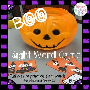Halloween Sight Word BOO Game/Activity
