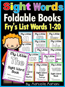 Sight Word BOOKS- Fry's 1st 20 words (21 Foldable Sight Word Readers)