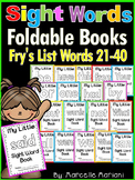 Sight Word BOOKS- Fry's list words 21-40 (Foldable Sight Word Readers)