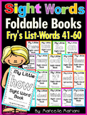 Sight Word BOOKS- Fry's list words 41-60 (Foldable Sight Word Readers)