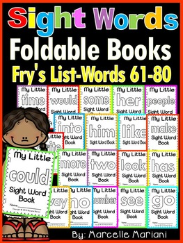 Sight Word BOOKS- Fry's list words 61-80 (Foldable Sight Word Readers)
