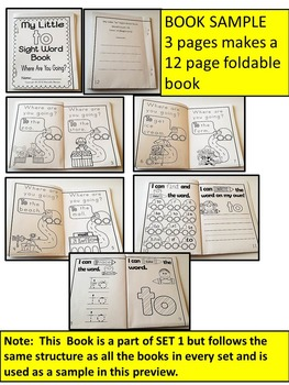 Sight Word BOOKS- Fry's list words 81-100 (Foldable Sight Word Readers)