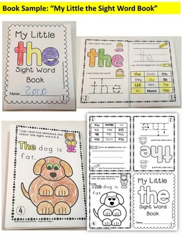 Sight Word BOOKS-ONE PAGE FOLD-ABLE SIGHT WORD BOOKS (SET 1)