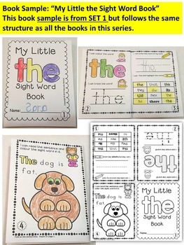 Sight Word BOOKS-ONE PAGE FOLD-ABLE SIGHT WORD BOOKS (SET 3)