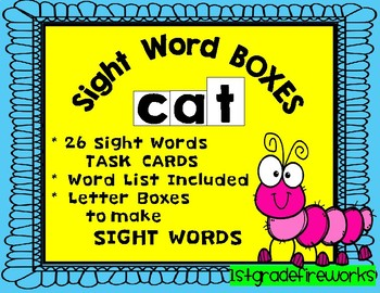 Sight Word BOXES...List 1