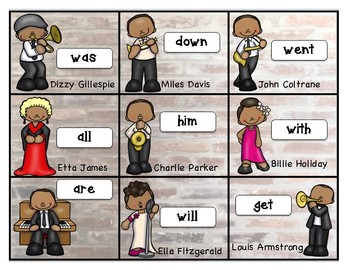 Sight Word-BUMP IT-African Americans of Jazz