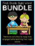 First Grade Sight Words Activities BUNDLE