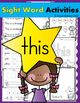 Sight Word BUNDLE #2 (are, can, have, is, said, they, this, will, with)