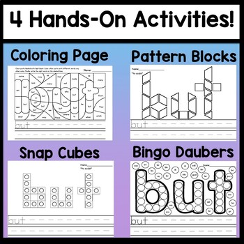 Sight Word BUT {2 Sight Word Books and 4 Worksheets!}