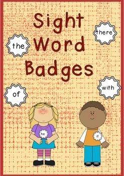 50 Sight Word Badges