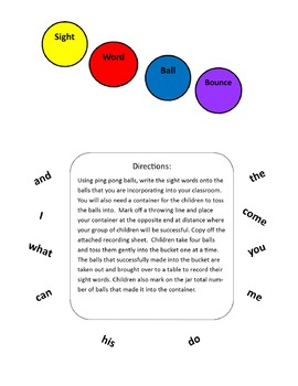 Sight Word Ball Bounce