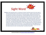 """Sight Word """"Bam"""" Game"""