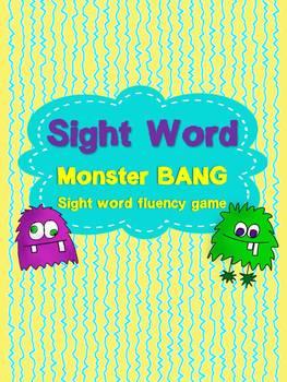 Sight Word Bang Monster Theme