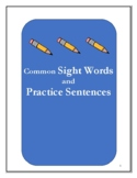Sight Word Bank with Practice Sentences