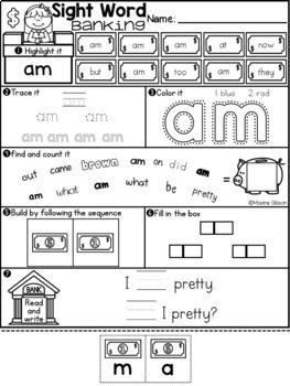 Sight Word Banking Primer