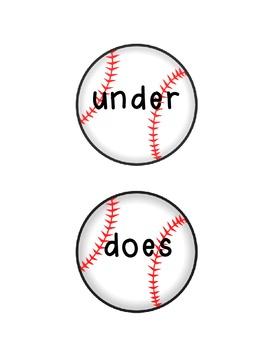 Sight Word Baseball!