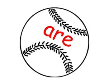 Sight Word Baseball for Kindergarten